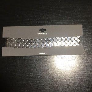 EXPRESS silver CHOKER